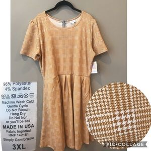 3XL LuLaRoe Amelia dress houndstooth BNWT